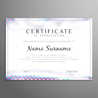 Abstract modern certificate design
