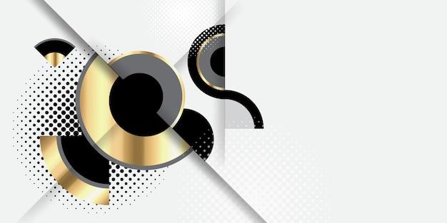 추상 현대 원형 예술 배경 럭셔리 화이트 골드 현대
