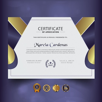 Abstract modern color certificate