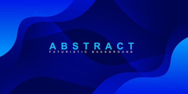 Абстрактный современный красочный градиент синий фон кривой
