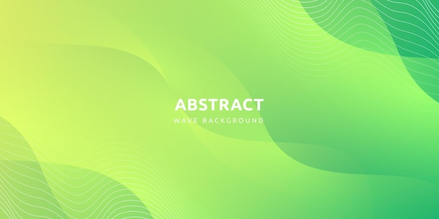 Абстрактный современный красочный градиент зеленой кривой фон