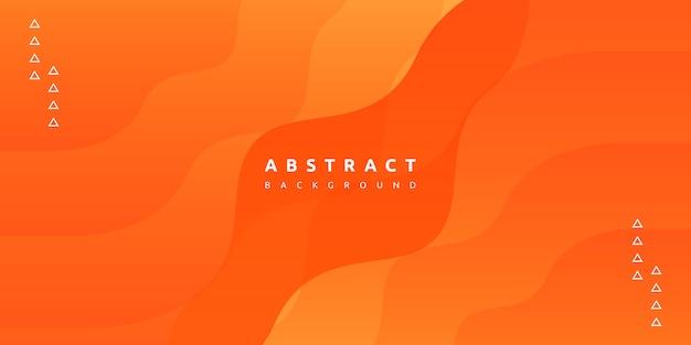 Абстрактный современный красочный градиент оранжевого фона кривой