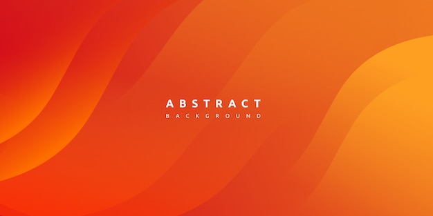 Abstract modern colorful gradient orange yellow curve background