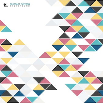 Abstract modern colorful triangle pattern design background