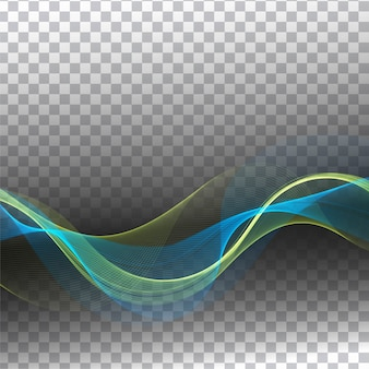 Abstract modern colorful wave transparent background