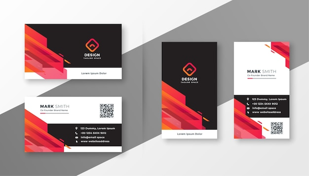 Abstract modern corporate business card design template set