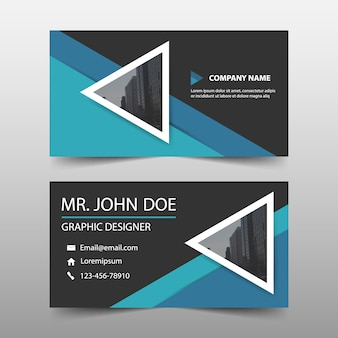 Abstract modern corporate business card