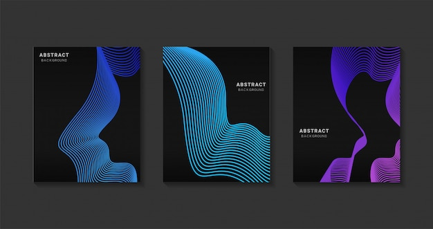 Abstract modern covers design. futuristic art line gradients.background modern template design for web. future geometric patterns.