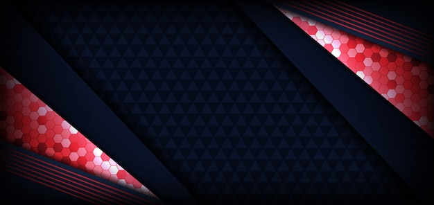 Abstract modern dark banner blue and red futuristic background