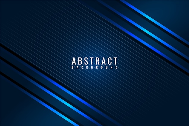 Abstract modern dark blue shiny background with diagonal lines.