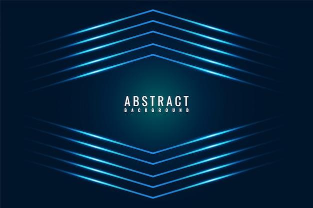 Абстрактный современный темно-синий блестящий игровой фон с диагональными линиями.
