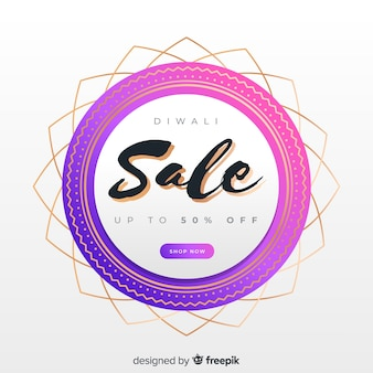 Abstract modern design for diwali sales
