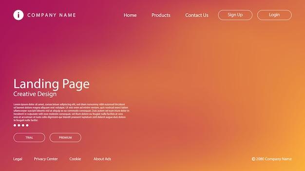 Абстрактный современный дизайн с пастельными цветами и эффектом размытия для целевой страницы веб-сайта