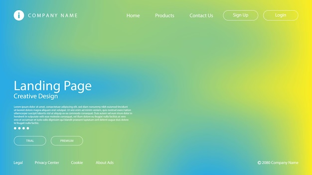 Abstract modern design with pastel color and blur effect for website landing page