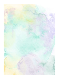 Abstract modern design with splatter stain hand-painted watercolor on white background. artistic vector