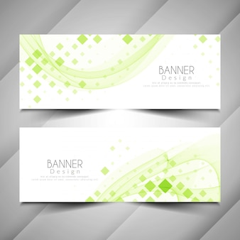 Abstract modern elegant banners design set