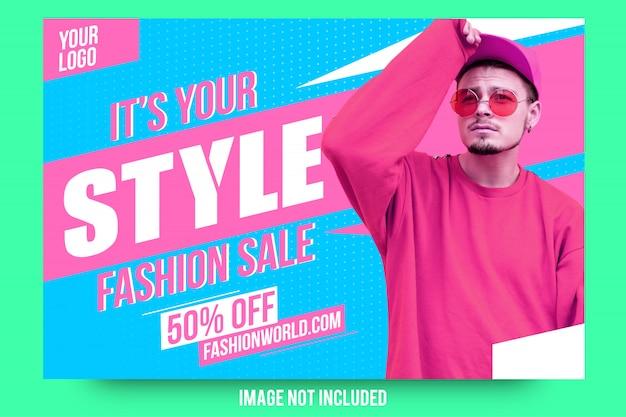 Abstract modern fashion sale banner