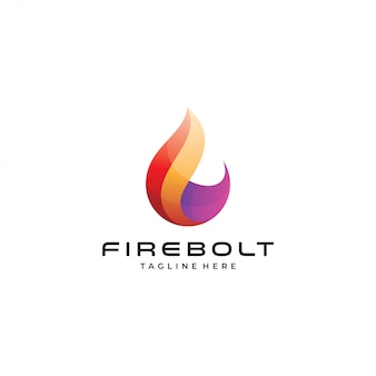 Abstract modern fire flame logo icon
