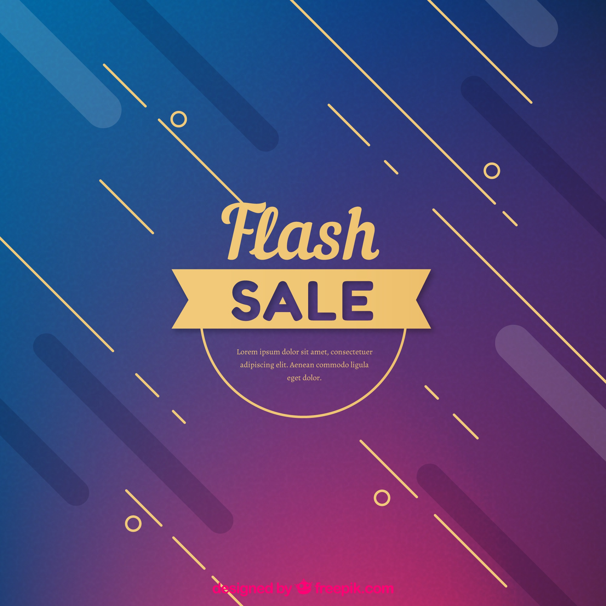 Abstract modern flash sale background