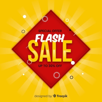 Abstract modern flat sale background