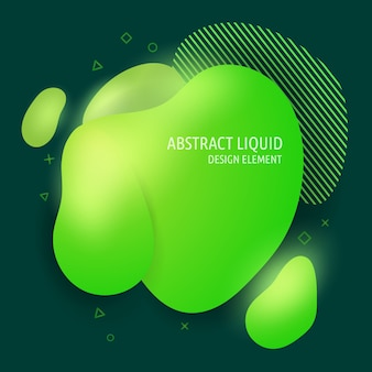 Abstract modern flowing liquid shapes design elements
