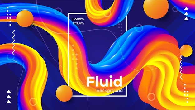 Abstract modern fluid background