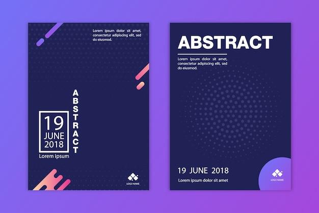 Abstract modern flyer template