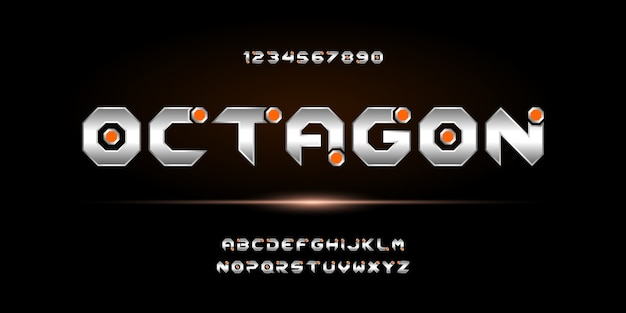 Abstract modern futuristic alphabet font. typography urban style font