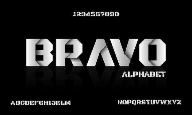 抽象的な現代の未来的なアルファベットフォント。テクノロジー、デジタル、映画のロゴデザインのためのタイポグラフィアーバンスタイルフォント