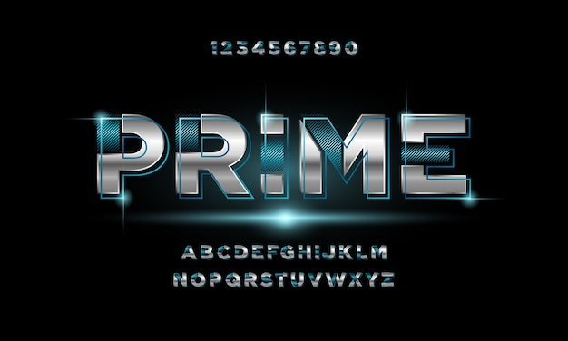 Abstract modern futuristic alphabet font. typography urban style fonts for technology, digital