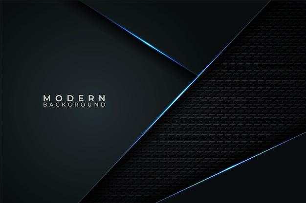 Abstract modern futuristic technology metallic blue glow in dark background