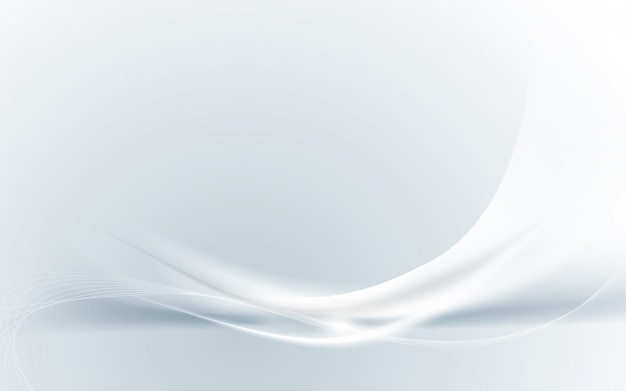 Abstract modern futuristic white wavy with blurred light curved lines background