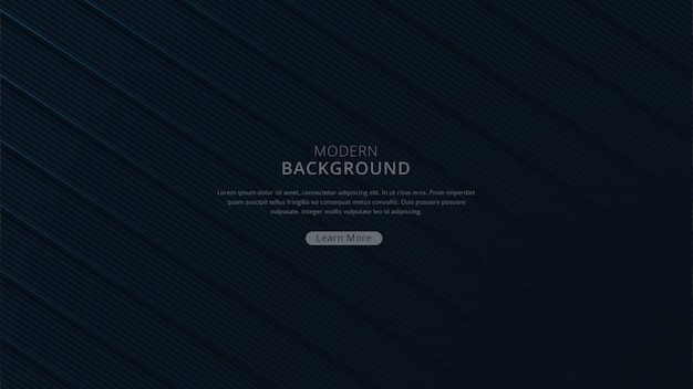 Abstract modern geometric shape background navy dark theme premium vector