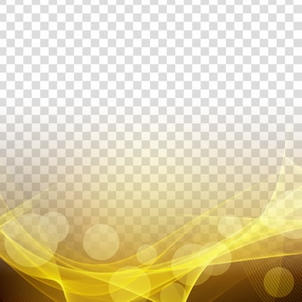 Abstract modern glowing wave transparent background