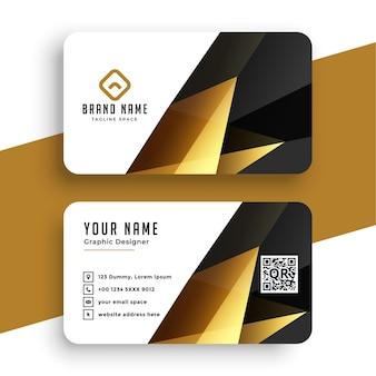 Abstract modern golden business card template