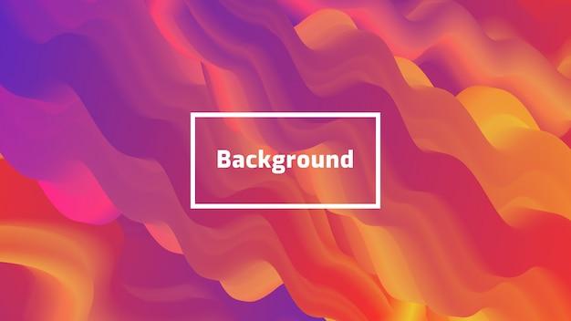Abstract modern gradient fluid shape background