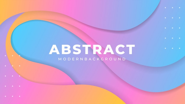 Abstract modern gradient papercut background