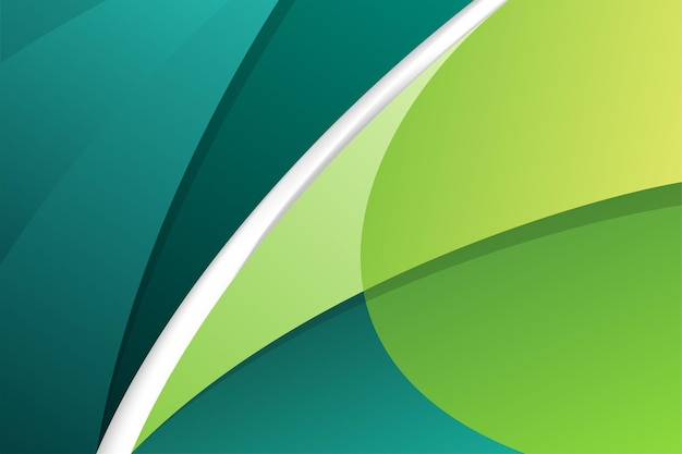 배경에 추상적 인 현대 녹색과 청록색 모션 곡선 요소.
