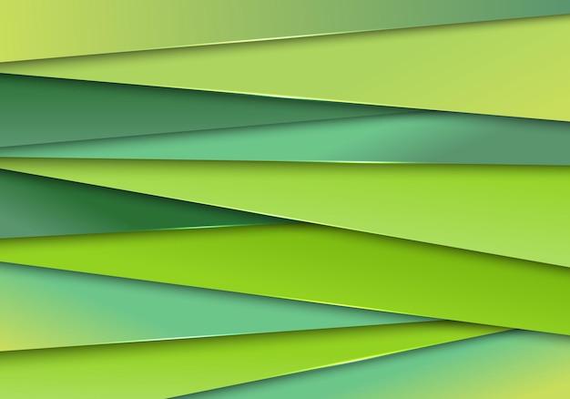 抽象的なモダンな緑の紙は、背景とテクスチャをストライプします。ベクトルイラスト