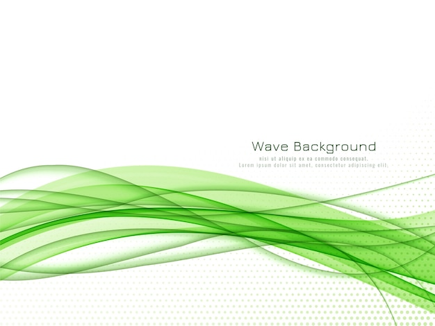 Abstract modern green wave background vector