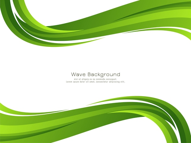 Abstract modern green wave design background vector