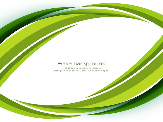 Abstract modern green wave design background