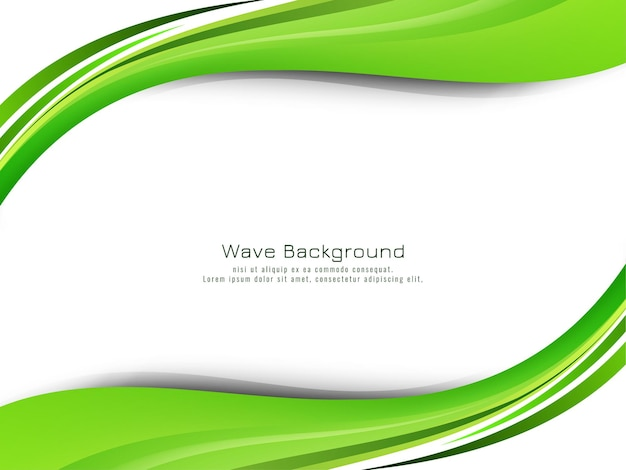 Abstract modern green wave