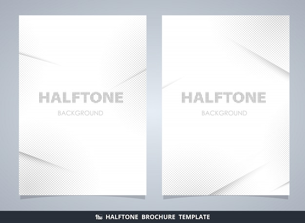 Abstract modern halftone brochure mockup in gray decorating background