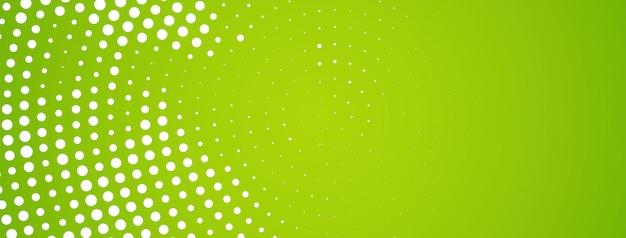 抽象的な現代的なハーフトーンデザイングリーンバナー