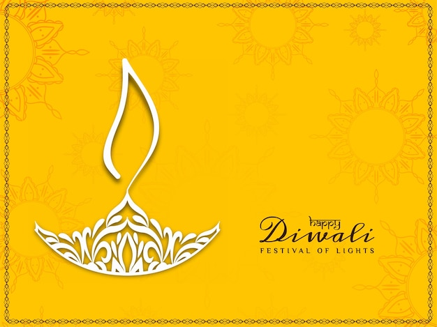 Abstract modern happy diwali decorative background