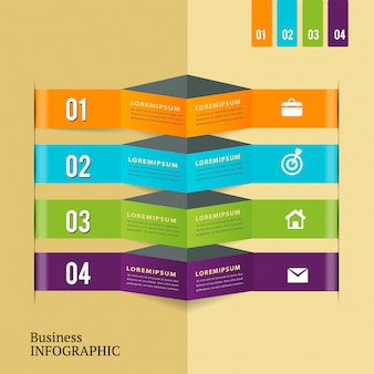 Abstract modern infographic template