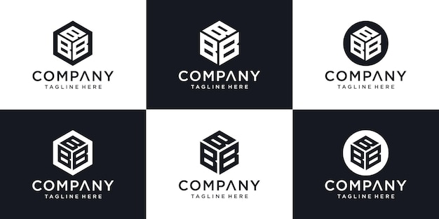 Abstract modern initial  letter b sign luxury logo design template