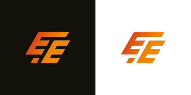 抽象的なモダンな頭文字eeeサインロゴデザインテンプレート