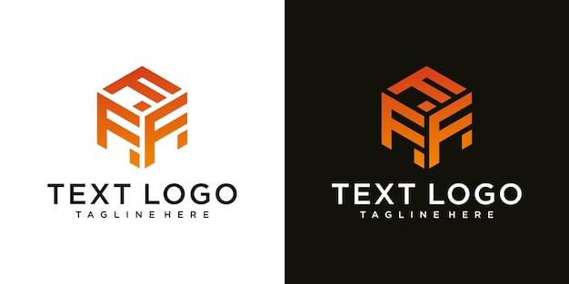 抽象的なモダンな頭文字f記号高級ロゴデザインテンプレート